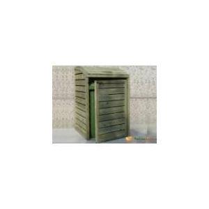 Solid S751 - Cache poubelle Natura simple en bois