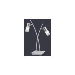 lampe 2 Led en aluminium, chrome et verre