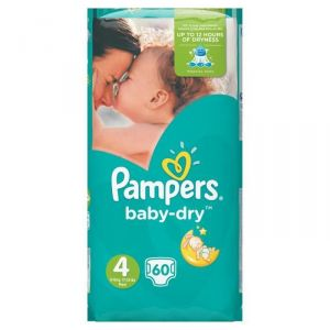 Pampers Baby Dry taille 4 (8-16 kg) - 60 couches