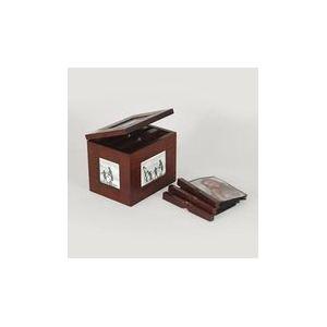 Emde Boîte photo en bois d'ébène pour 100 photos 10x15