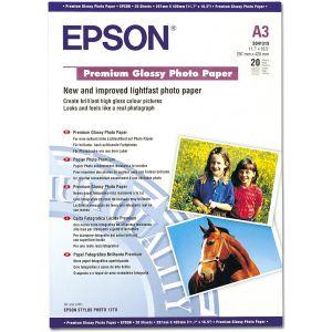 Epson 20 feuilles de papier photo Premium Glacé 255g/m² (A3+)