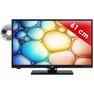 Haier LEH24V100D - Téléviseur LED 61 cm avec lecteur DVD intégré