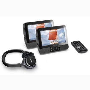 Lenco DVP-938 x2 - Lecteur DVD portable avec 2 écrans et 2 lecteurs