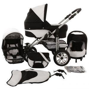 Lux4kids Matrix Lancer - Poussette combinée 3 en 1 avec nacelle et siège auto cosy