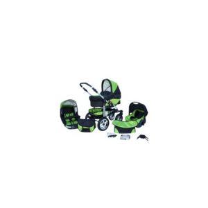 Lux4kids Matrix Lancer - Poussette combinée 3 en 1 avec roues pivotantes AIR