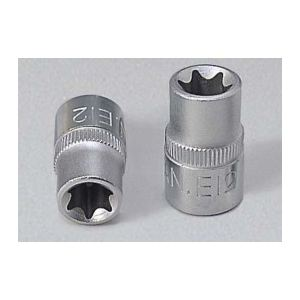 """KS Tools 911.4340 - Douille 3/8"""" Torx E6 L.28mm"""
