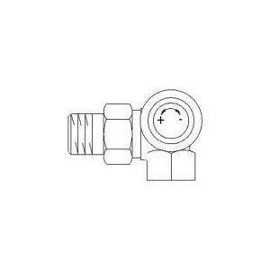 Oventrop 1180491 - Corps de robinet thermostatique angle droit série A 12x17 diamètre 10