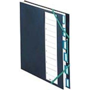 Extendos Trieur 6 cases couverture plastique avec élastique (24 x 32 cm)