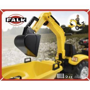 Falk Excavatrice jaune pour tracteur à pédales