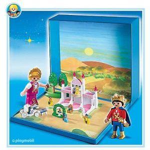 Playmobil 4330 - Chateau avec princesse et prince micro aimanté
