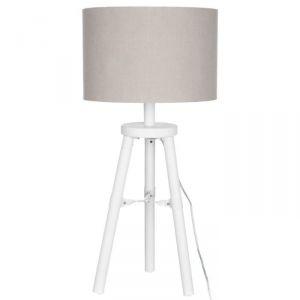 J-Line Lampe trépied bois 72 cm