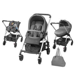 Bébé Confort Streety Next 2016 - Combiné Trio avec poussette, nacelle compacte, siège auto Streety.fix et sac à langer