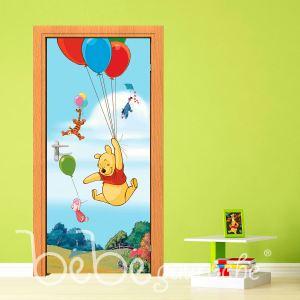 Poster de porte Winnie l'ourson Ballon Disney (90 x 202 cm)