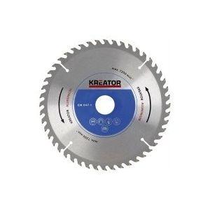 Kreator KRT022350 - Lame de scies circulaires pour aluminium Diamètre 254 mm Nombre de dents 60 Alésage 30 mm Epaisseur 2,8 mm