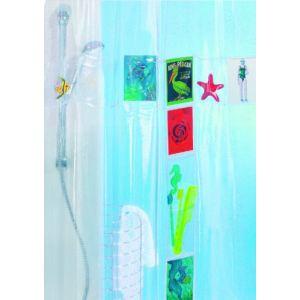 Spirella Rideau de douche Postcard avec poches de rangement (180 x 200 cm)