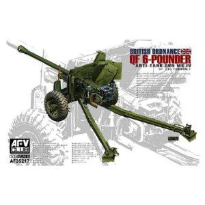 AFV Club AF35217 - Canon antichars britannique Mk.4 Qf 6 Pounder - Echelle 1:35