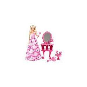 Mattel Barbie princesse et sa coiffeuse