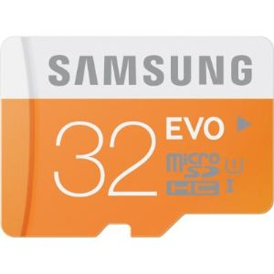 Samsung MB-MP32DA/EU - Carte mémoire microSDHC EVO 32 Go classe 10 avec adaptateur SD