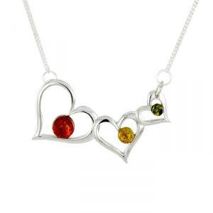 Rêve de diamants COBA01006 - Collier en argent 925/1000 et ambre