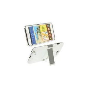 C1N1-MPPC3677W - Coque en plastique blanc avec support pour Samsung Galaxy Note / i9220 / N7000