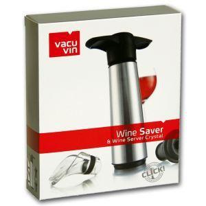 Vacu vin Coffret d'un pompe à vin en plastique, 2 bouchons et 2 verseurs