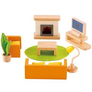Hape Meubles de salon télé familial pour maison de poupée