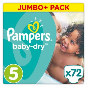 Pampers Baby dry taille 5 (11-23 kg) - 72 couches
