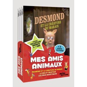 Coffret Mes amis animaux - Desmond et la créature du marais + Le Mulot menteur + Les Deux moustiques