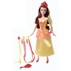 Mattel Poupée Belle : Coiffure de Princesse