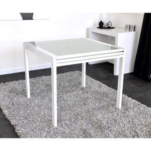Logidesign Table carrée à double plateau (90 x 180 cm)