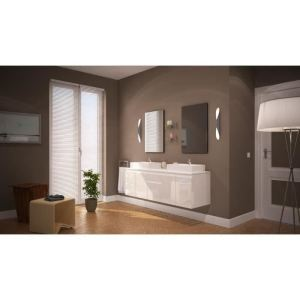 meuble salle de bain 150 cm comparer 1097 offres. Black Bedroom Furniture Sets. Home Design Ideas