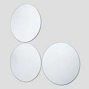 Ideko 3 miroirs rond avec adhésifs (20 cm)