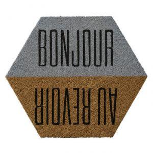 """Bloomingville Paillasson -  """"Bonjour / Au revoir"""" (60 x 70 cm)"""