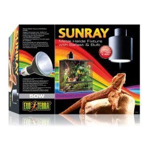 Exo terra Support Ballast Lampe Sunray pour Reptiles et Amphibiens 50 W