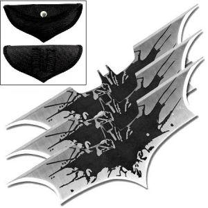 3 Bat boomerang Batman shuriken de lancer en acier