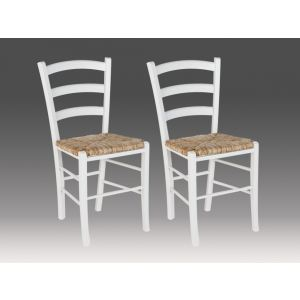 Paysanne - 2 chaises en hêtre massif