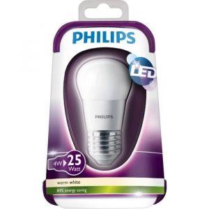 Philips Ampoule LED Sphérique Culot E27 4W (Équivalent 25W Incandescent) 2700 Kelvin