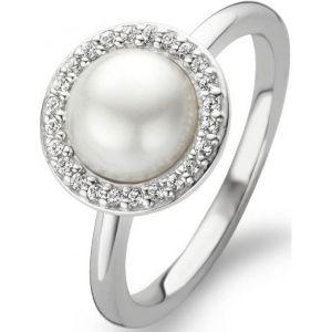 Image de Ti sento 12014PW - Bague blanche en argent et strass pour femme
