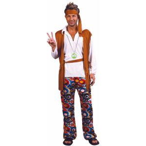 Party Pro Costume Flower Guy hippie (taille au choix)