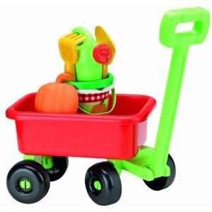 Ecoiffier Chariot rétro de jardin garni Pic nic