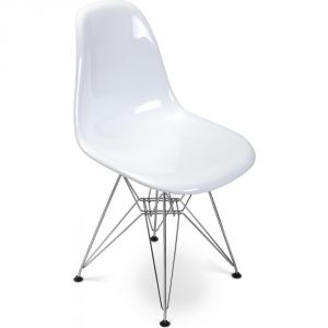 chaise blanc brillant comparer 162 offres. Black Bedroom Furniture Sets. Home Design Ideas