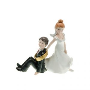 Chaks 80171 - Figurine en résine Couple de mariés Suis-Moi (15 cm)