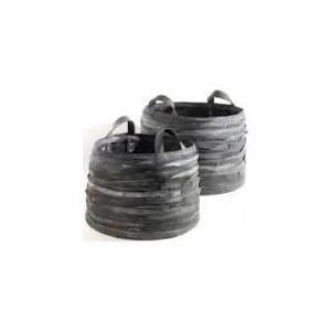 Serax 2 paniers à bûches ou cache-pots en caoutchouc Moniek (39 x 56 cm)