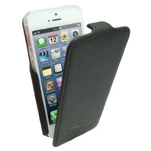 Omenex 730753 - Etui à rabat Salamandre iPhone 5(S) noir
