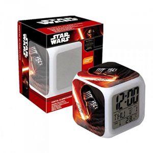 Réveil cube numérique lumineux LED Star Wars