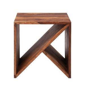 Kare Design Table basse cube Zigzag en bois