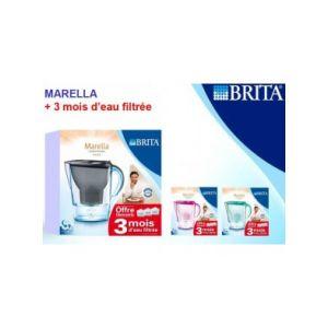 Brita Marella - Lot carafe filtrante 2,4 L + 3 mois d'eau filtrée
