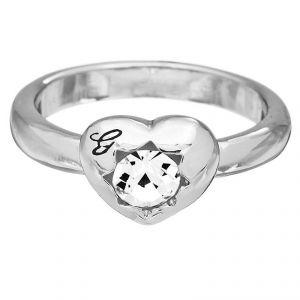 Guess UBR51408 - Bague Crystals of Love en métal argenté