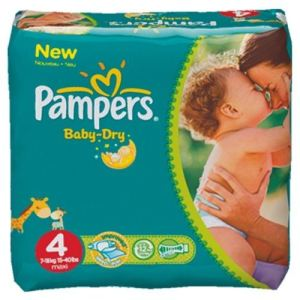 Pampers Baby Dry taille 4 Maxi (7-18 kg) - Pack économique x 174 couches