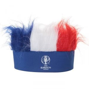 Perruque bandeau tricolore Euro 2016 Football France